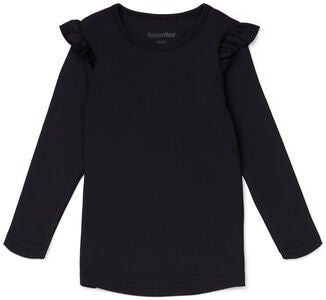 Hyperfied Frill Sleeve Top, Anthracite