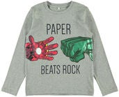 Name it Nikko Pullover Avengers, Grey Melange