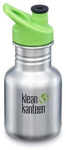 Klean Kanteen Kid Classic Sport Cap Trinkflasche 355ml, Brushed Stainless