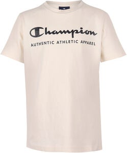 Champion Kids Crewneck T-Shirt, White Asparagus