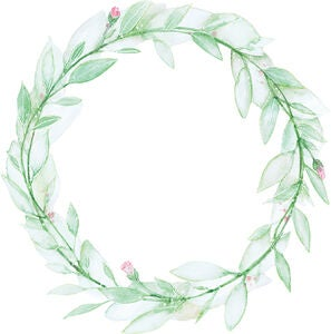 That's Mine Wallsticker Flower Wreath, Grün