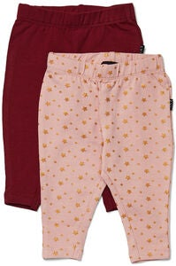 Luca & Lola Linda Leggings 2er-Pack, Wine/Pink