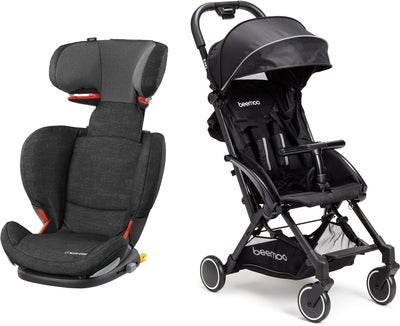 Maxi-Cosi RodiFix AP, Nomad Black Reisepaket Beemoo Easy Fly Buggy, Black