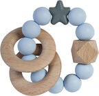 Nibbling Natural Wood Rassel, Soft Blue