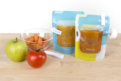 Kidsme Reuseable Food Pouch, 4x180 ml