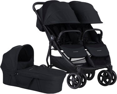 Crescent Duo Lightway Geschwisterwagen, Black