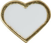 Design Letters Charm Heart, Gold/White