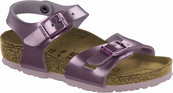 Birkenstock Rio Kids Sandalen, Electric Metallic Lilac