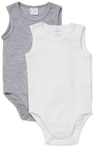 Luca & Lola Bambo Body 2er-Pack, Grey