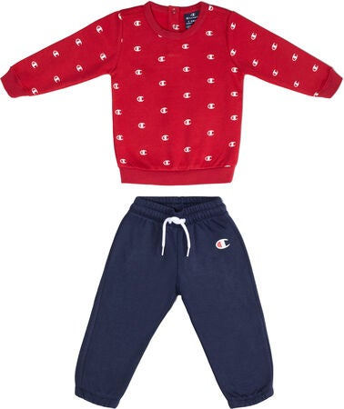 Champion Kids Sweatshirt Crewneck und Hose Set, True Red