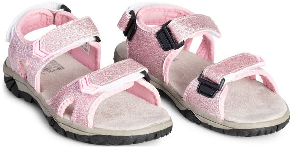 Little Champs Race Glitter Sandale, Pink