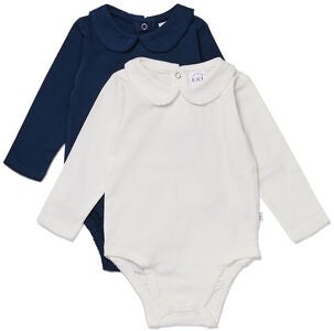 Luca & Lola Loretta Body 2er-Pack, Navy/White