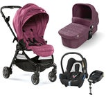 Baby Jogger City Tour Lux Kombiwagen, Rosewood + Maxi-Cosi Cabriofix Travelsystem