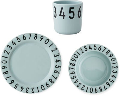 Design Letters Numbers Melamin Set, Grün