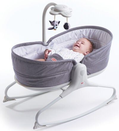 Tiny Love 3-in-1 Rocker Napper Babywippe, Grey