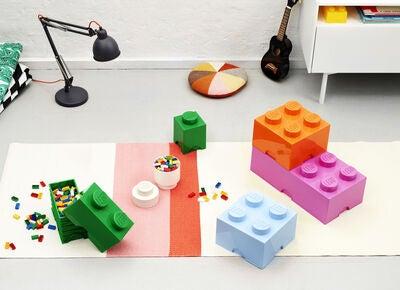kaufen lego aufbewahrungsbox mit schublade 4 rosa jollyroom. Black Bedroom Furniture Sets. Home Design Ideas