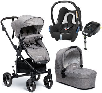 Beemoo Flexi Travel 3 inkl. Travelsystem Maxi-Cosi, Grey Melange