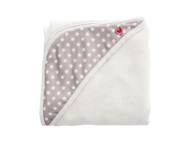 Baby to love Smart Babyhandtuch Bamboo, White Stars