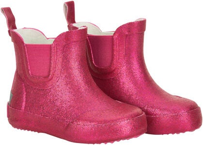 CeLaVi Wellies Short Glitter Gummistiefel, Real Pink