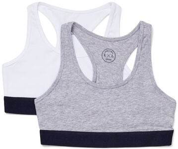 Luca & Lola Monica Top 2er-Pack, Grey/White