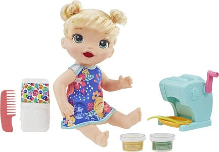 Baby Alive Snackin' Pasta Baby Puppe Blond