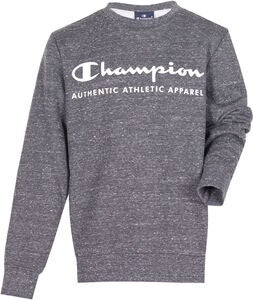 Champion Kids Crewneck Pullover, New Charcoal Grey Melange Dark