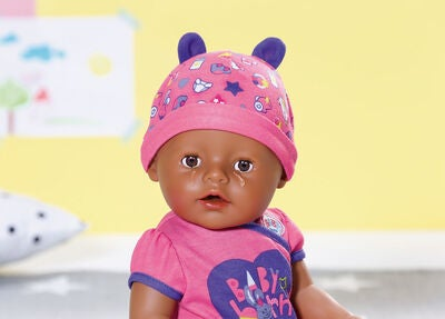 Baby Born Puppe Brown Eyes Interactive Soft Skin 43 cm
