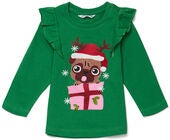 Luca & Lola Top Merry Pugbaby, Green