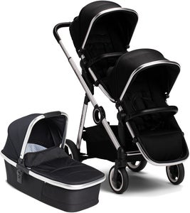 Beemoo Twin Travel+ 2020 Geschwisterwagen, Black