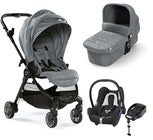 Baby Jogger City Tour Lux Kombiwagen, Slate + Maxi-Cosi Cabriofix Travelsystem