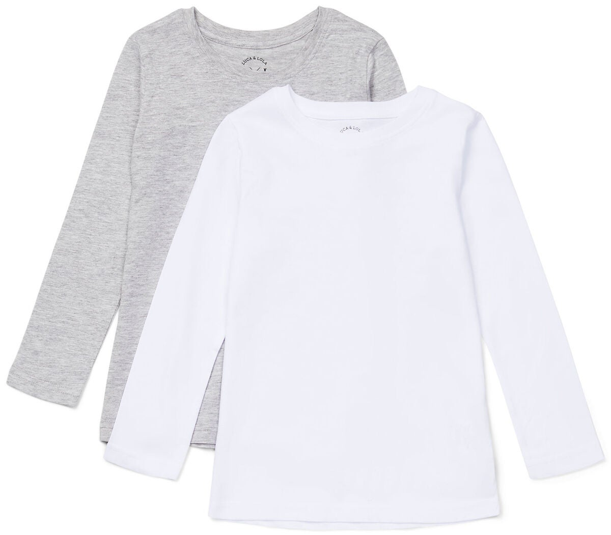 Luca & Lola Nario Langärmliges T-Shirt 2er-Pack, White/Grey