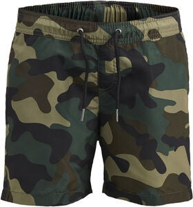 Jack & Jones Sunset Camo Badeshorts, Olive Night