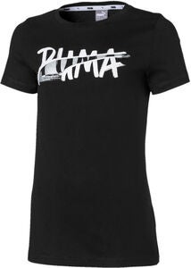 Puma Logo T-Shirt, Black