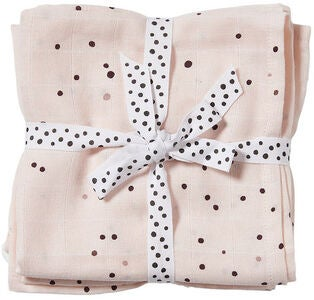 Done By Deer Decke Dreamy Dots 120x120 2er-Pack, Powder