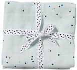 Done By Deer Decke Dreamy Dots 120x120 2er-Pack, Blue