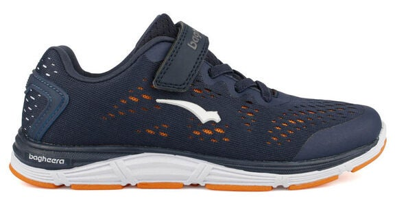 Bagheera Victory Jr Sneakers, Navy/Orange