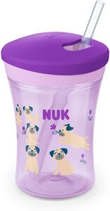 NUK Evolution Action Cup Becher, Lila