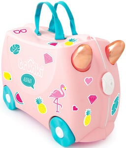 Trunki Flossi The Flamingo Koffer 18L, Light Pink