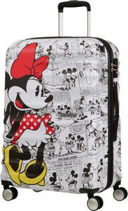 American Tourister Disney Minnie Maus Trolley, Weiß 64L