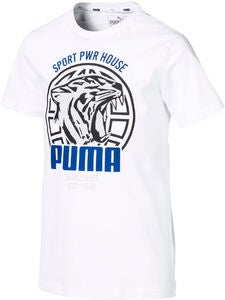 Puma Alpha Graphic T-Shirt, White
