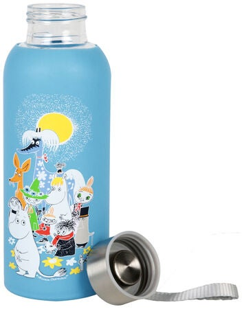 Mumin Glasflasche Sommertag