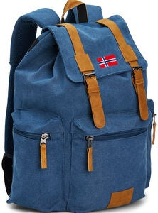 Pure Norway Retro Rucksack, Blau