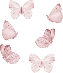 That's Mine Wallsticker Butterfly 6er-Pack, Rose