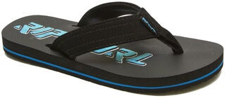 Rip Curl Ripper Kids Flip Flop, Black/Blue