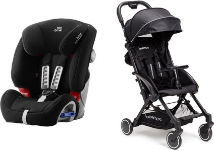Britax Römer Multi-Tech III, Cosmos Black Reisepaket Beemoo Easy Fly Buggy, Black
