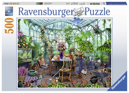 Ravensburger Puzzle Greenhouse Mornings 500 Teile