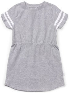 Luca & Lola Ascea Kleid, Grey Melange Stripes