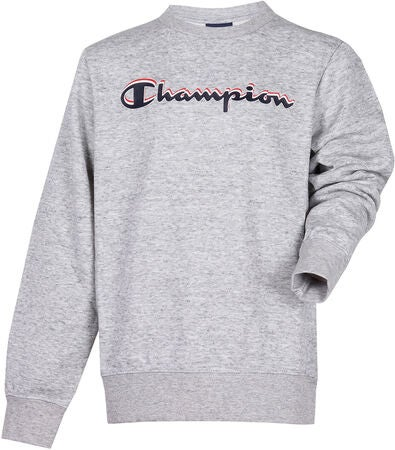 Champion Kids Crewneck Sweatshirt, Grey Melange