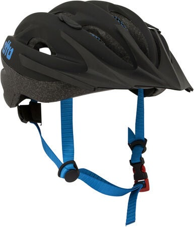 Etto Shark Fahrradhelm, Black/Blue Matt