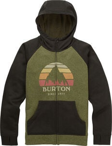 Burton Boys Oak Full-Zip Hoodie, Clover Heather/Resin Heather